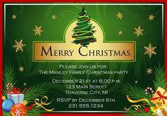 Golden Flakes Christmas Party Invitations – Announce It! Family Christmas, Merry Christmas, Xmas, Christmas Ornaments, Christmas Party Invitations, Flakes, Party Planning, Rsvp, Holiday Decor