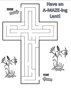 One way to help children learn about the resurrection of Jesus is through projects pertaining to the crucifix.  You can download and print out this easy cross maze and have them work on it while ta…