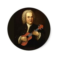J.S. Bach on Uke Sticker
