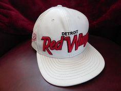 Detroit Red Wings New Era Snapback 9Ffifty White Leather Baseball Hat #NewEra #BaseballCap