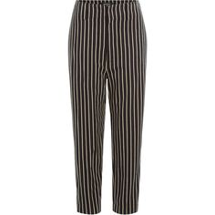 Isabel Marant Remy Striped Cotton Twill Cropped Pants (13,415 INR) ❤ liked on Polyvore featuring pants, capris, bottoms, stripes, cream pants, structure pants, isabel marant, cropped capri pants and stripe pants