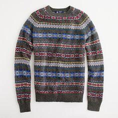J. Crew Factory - lambswool Fair Isle sweater