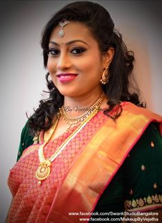 Indian Bridal Makeup, Bridal Hair, Telugu Brides, Bridal Makeover, Hindu Bride, Bridal Jewelry, Gold Jewellery, Salon Services, Professional Makeup Artist