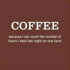 Coffee - Number of hours slept