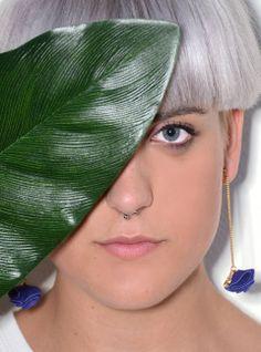 Ortensia leather earrings - www.scicche.it