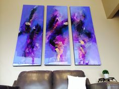 Purple Abstract Painting by artist Brittany Lee Howard in Austin