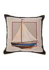 Brentwood Sailboat Decorative Pillow