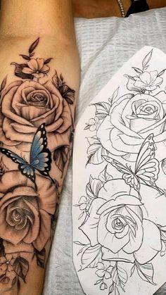 Dope Tattoos For Women, Girl Arm Tattoos, Shoulder Tattoos For Women, Wrist Tattoos For Women, Rose Tattoos, Body Art Tattoos, Hand Tattoos, Tatoos, Simplistic Tattoos