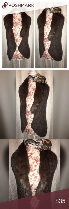 NWOT FENN WRIGHT MANSON RABBIT FUR COLLAR VEST LG This beautiful tan rabbit fur collar best is made by fan right Manson it is a size large and 19 inches across the chest and in excellent condition! Great BoHo look!! Fenn Wright Manson Jackets & Coats Vests