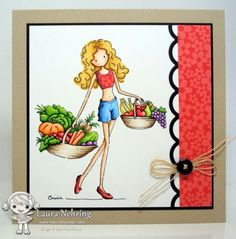 Eat Your Fruits and Veggies! by thecraftysister - Cards and Paper Crafts at Splitcoaststampers Happy 4th Birthday, Fruits And Veggies, Card Making, Vogue, Paper Crafts, Stamp, Scrapbook, Crafty, Cards