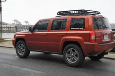 Give me your 2 cents. What tires with RRO lift - Jeep Patriot Forums Jeep Patriot Roof Rack, Jeep Patriot Lifted, Jeep Xj, Jeep Wrangler, Jeep Patriot Accessories, Cheap Jeeps, Best Suv, Jeep Mods, Crossover Suv