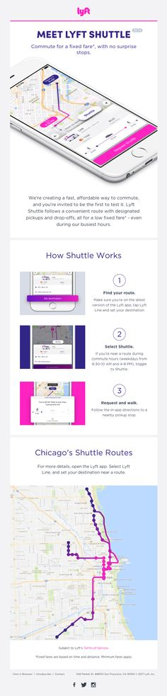 Have you discovered Lyft Shuttle in the app? - Really Good Emails Email Template Design, Email Templates, Email Web, Welcome Emails, App Marketing, Email Design Inspiration, Best Email, Newsletter Design, Email Newsletters