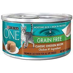 Canned Purina One Grain Free Classic Chicken Recipe Premium Pate Wet Cat Food