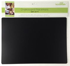 Chalkboard Fleximat Placemats Set of 4