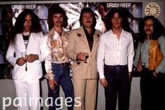 Uriah Heep in 1976 with John Wetton on right.