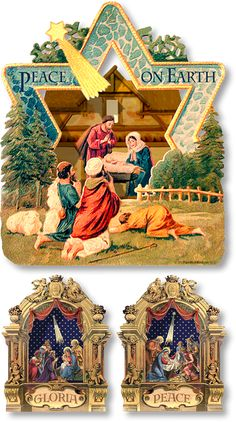 Three Miniature Nativities Collection - PaperModelKiosk.com