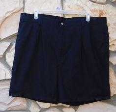 HAGGAR Black Shorts Men's Size 44 100% Cotton Casual Vacation Wear #Haggar #CasualShorts