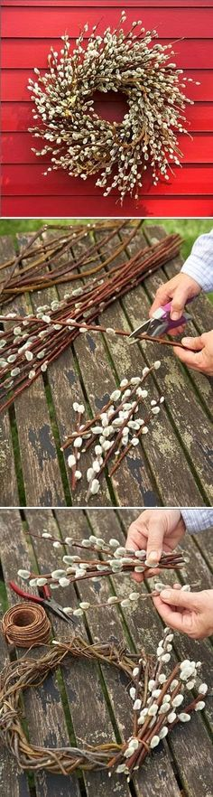 Make a Beautiful Pussy Willow Wreath - I LOVE pussy willows!