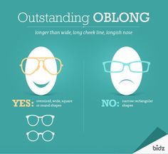 A visual guide to choose eyeglass frames for your face shape oblong face type urmus Gallery