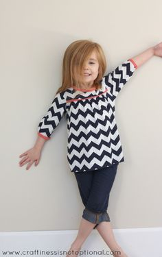 craftiness is not optional: The chevron shirt (and a birdie one too)