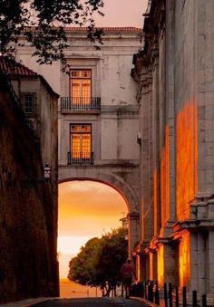 Sunset in Lisbon, Portugal