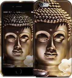 Buddha-Kopf mit weißen Rose / Buddha Kopf mit weißer Rose iPhone Cases & Skins von Bilder für die Wand | Nuvango