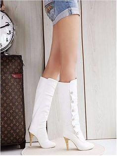Cute Winter High Heels Buckle Boots