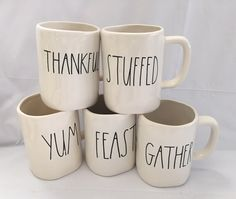 Rae Dunn Thanksgiving MugsBlessed Feast Stuffed by RamblingStorm