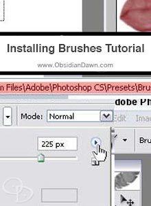 Installing Photoshop Brushes Tutorial