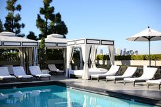 Rooftop pool, Chamberlain Hotel, West Hollywood, L.A.