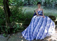Wedding dress by Emé di Emé. You love it or hate it I love it Colored Wedding Gowns, Wedding Dresses 2014, Wedding Colors, Wedding Styles, Wedding Ideas, Dress Outfits, Dress Up, Strapless Dress Formal, Formal Dresses