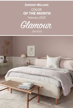 Give walls some Glamour SW 6031 with the Sherwin-Williams February Color of the Month. This soft, subtle paint color brings serenity to your bedroom or any room in your home. Tap this pin for more color inspiration. Bedroom Wall Colors, Home Decor Bedroom, Paint Colors For Home, House Colors, Master Room, Master Bedrooms, House Painting, Room Inspiration, Walls
