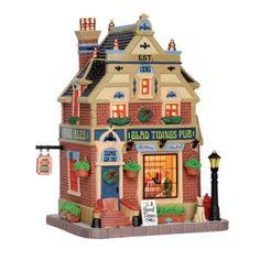 miniature halloween train station | Lemax Caddington Village Glad Tidings Pub Christmas Porcelain Lighted ...