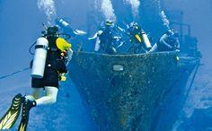 Los pecios de los galeones españoles y otros barcos son un estímulo para los buceadores de Cozumel.