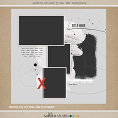 FREE Digital Scrapbooking Template / Sketch | June '20 | Sahlin Studio | Digital Scrapbooking Designs