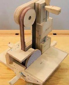 Ah! E se falando em madeira...: Fazendo uma lixadeira de cinta
