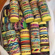 Colorful friendship bracelet braided wrist band string handwoven bracelet knotted jewelry for everyday custom Knit bracelet boho Thread Bracelets, Cute Bracelets, Loom Bracelets, Ankle Bracelets, Friendship Bracelets Designs, Bracelet Designs, Homemade Bracelets, Bracelet Display, Bracelet Crafts
