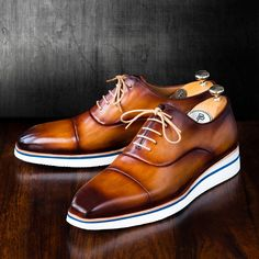 Paul Parkman Men's Smart Casual Oxfords Brown & Camel Handpainted Mens Smart Casual Shoes, Smart Casual Menswear, Mens Fashion Casual Shoes, Best Shoes For Men, Formal Shoes For Men, Mens Casual Dress Shoes, Shoes Men, Sneakers Fashion, Men Dress