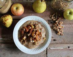 Cinnamon Apple and Pear Amaranth Porridge