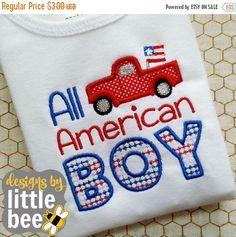 60% off SALE All American BOY patriotic Fourth of July FOJ 4th