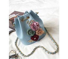 Boho Floral Bucket Bag