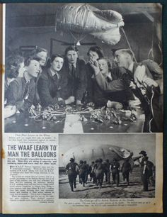 Part of the Picture Post article on WAAF barrage balloon crews Economic Terms, Ww2 Women, Out Of Focus, Battle Of Britain, Female Soldier, Beautiful Dream, Vintage Magazines, Women In History, Vintage Photographs