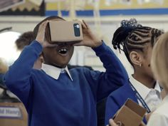 As kids start heading back to school, we take a look at the technological advancements that are starting to appear in classrooms. Pictured here is a child in London experiencing Google Cardboard Expeditions. Click through for more fantastic gadgets and apps.