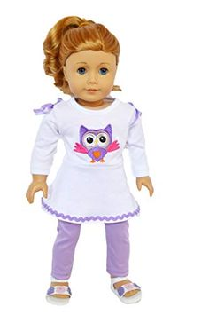 My Brittany/'s Lavender Slippers for American Girl Dolls and Bitty Twins//Baby