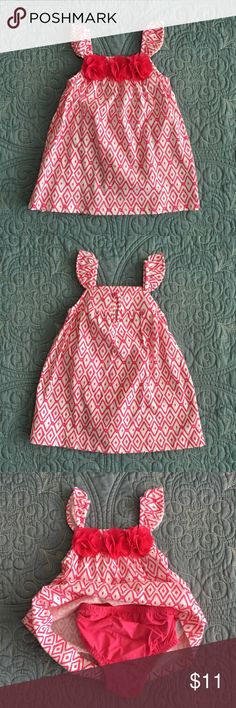 Summer dress by Children's place. Size 12-18m NWT Summer dress by Children's place 🔸 Size 12-18m 🔸 comes with matching pink underwear Children's Place Dresses