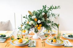 A Very Citrus Christmas! | holiday tabletop by coco kelley