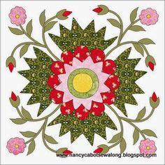 Moore About Nancy: Tea Rose quilt block