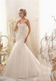 Strapless beaded and embroidered trumpet gown // 2611 from Mori Lee By Madeline Gardner