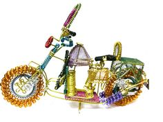 Unique hand made decorative brass bike by artist. Antiques chosen to give you a royal feel of Rajasthan  at home - See more at: http://potofgoodies.com/current-hot-deals/all-hot-deals/decorative-brass-colorful-bike-62667785