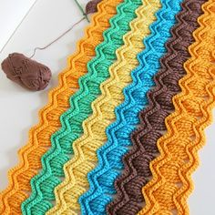 Crochet For Children: Crochet vintage fan ripple blanket